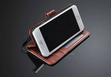 Lanyard pu leather wallet for iphone 6 leather case real genuine