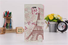Classical National Landmark flip case Eiffel Tower for iphone 5 5s Cross pattern PU leather case wallet style cover case