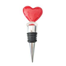 Handmake lampwork red heart wedding valentine wholesale glass wine stoppers