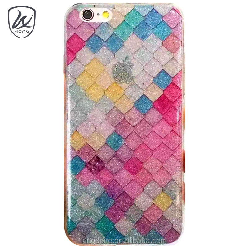 Glitter Bling Bling For iPhone 7 Case Fish Scales Skin Phone Case