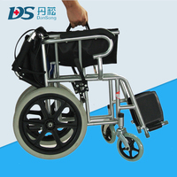hospital steel tube easy fold power wheelchair for old people