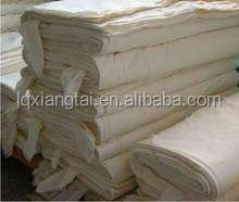polyester cotton grey raw white Calico Fabric