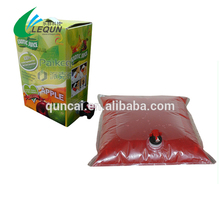 cheapest high quality bib bag for apple juice or other juice