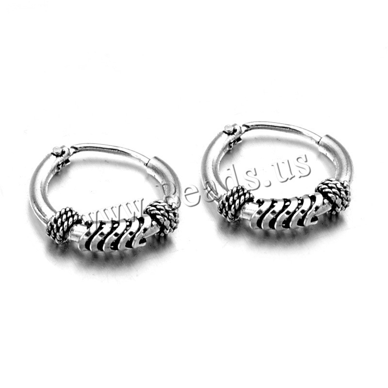 316L Stainless Steel Lever Screw Back Earring
