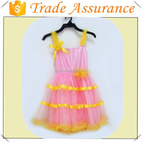 New Arrivals 2015 Kids Fashion Clothes Baby Wear Clothing Summer Dress Lace Princess Bubble Party Girls