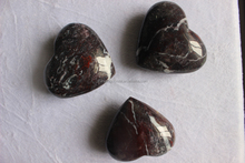 Natural bloodstone Quartz Stone Hearts Heart Shaped Gemstones Lovers Gifts