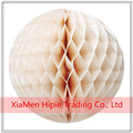 Ivory Handmade Tissue Paper Honeycomb Ball Wedding Party Birthday Decoration