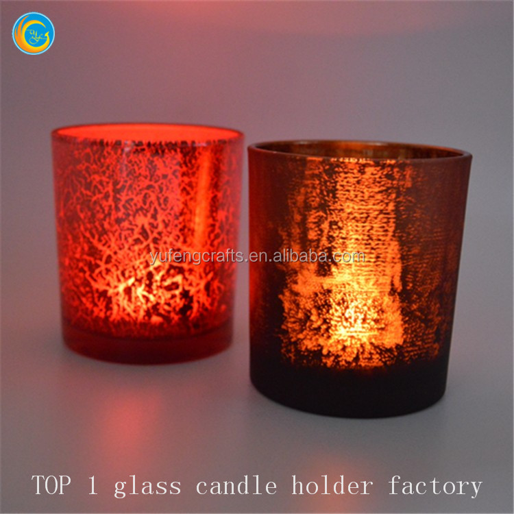 Crackle glass votive candle holders yufeng