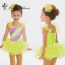 BL0068 colorful rainbow pancake few layers tutu dress- fashion competion lovely cute child wear dance- ballet tutu