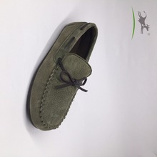 Breathable leather moccasins