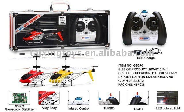 Mini 3CH Infrared Metal RC Helicopter with GYRO