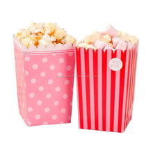 Perfect Pink Decorations and Tableware pretty Perfect pink popcorn boxes with polkadots Pretty Girls Party Supplies