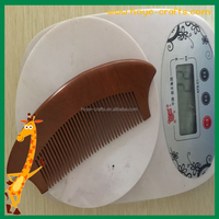 wholesale natural color comb plain wood hair comb