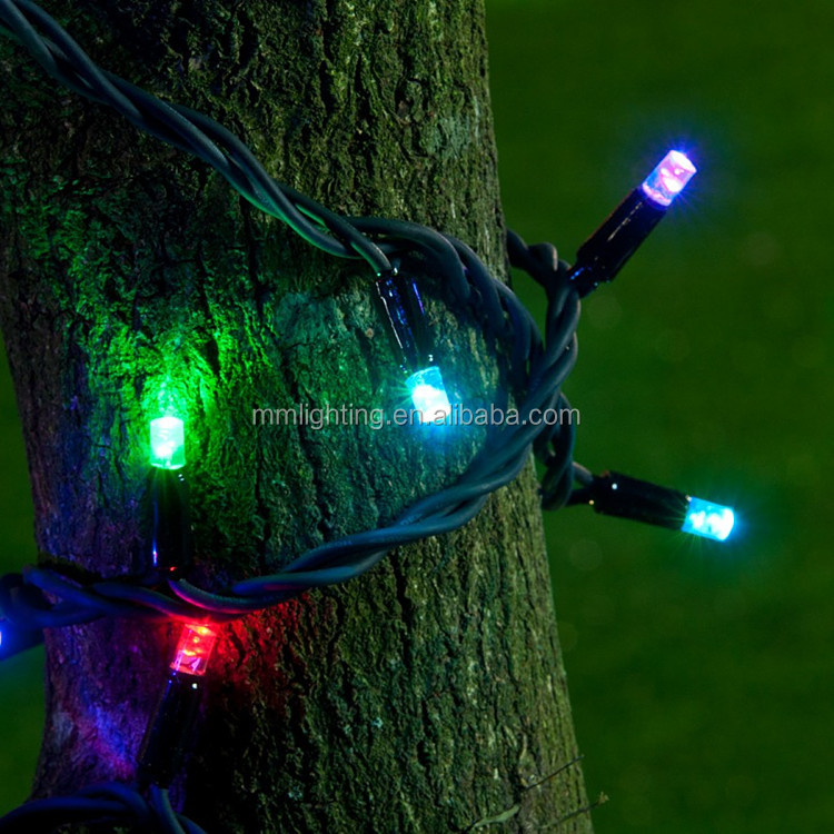 Rubber LED Christmas string lights, Outdoor led lights for christmas decoration