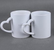 Low Price high grade strengthen porcelain Promotional milky White Coffee Mugs/AAA grade sublimation mug top quality