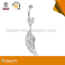 POPULAR ! Wing shape with diamond nipple ring piercing jewelry