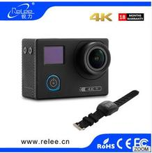 30m underwater camera with dual screen Go pro waterproof action camera