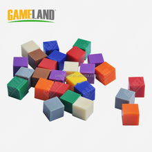 Plastic Square Tokens Colorful Game Pieces plastic game tokens