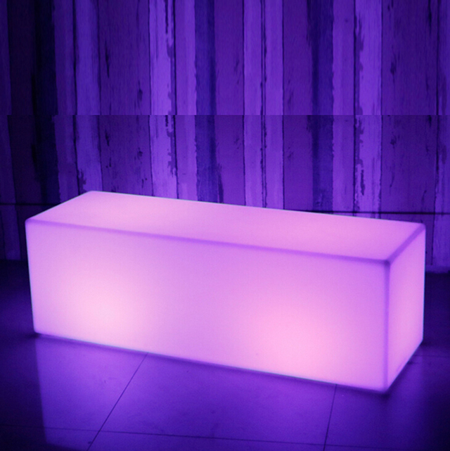 color changing ktv led light illuminated rgb bench