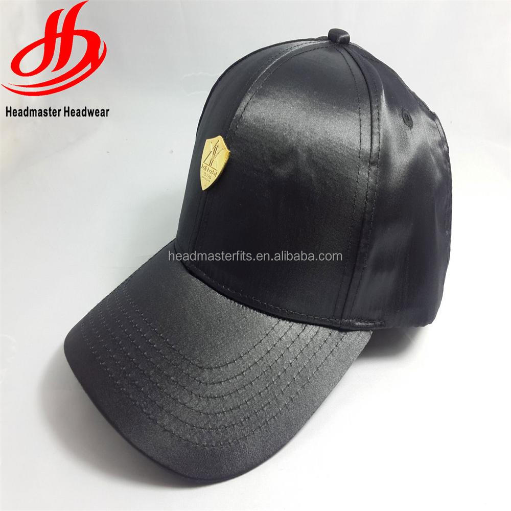 Wholesale products custom metal plate satin blank baseball cap