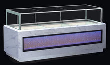 Refrigerated cake showcase/ lighted glass display case/bakery display refrigerator showcase