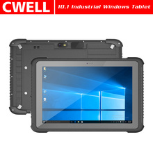 10 inch IP65 Waterproof rugged tablet pc mobile 1d 2d barcode scanner for windows 10 fingerprint nfc reader
