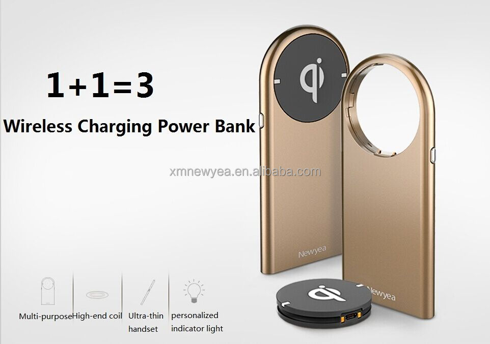 New innovations 2016 ultra slim wireless universal charger power bank 5v 1a for iphone