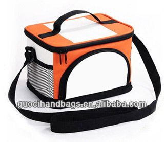 promotional polyester cooler bag with handle on top