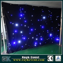 black fireproof velvet cloth yellow leds star curtain backdrop ce rohs led stage lighting