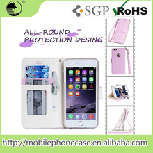 Amazon Hot Selling New Products PU+TPU Wholesale Wallet Phone Case With Hand Belt For iPhone 6S plus