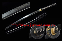 Handmade clay-tempered folded carbon steel 1095 Japanese samurai sword katana JK155BK
