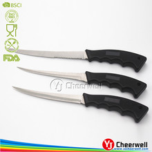 3PCS Highest Standards of Safety and Guality Fixed Blade Fillet Knives for Kitchen /Camping /Outdoor fishing