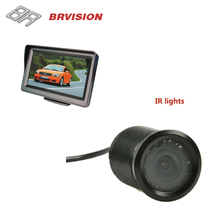 "BRvision popular 7"" Bluetooth function Car Rearview Mirror Monitor backup Camera kit"