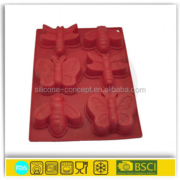 OEM soft mini silicone bakeware ,silicone jelly fruit pies molds / cute shape silicone cake mold