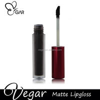 black color matte lipgloss special color eye-catching color glitter lip gloss