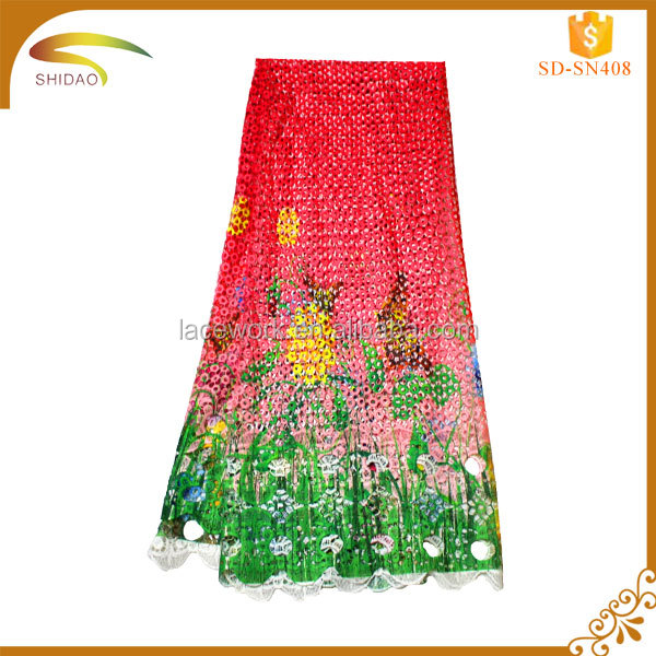 Wholesale Discount african guipure chemical water soluble soft polyester fabric lace and textile
