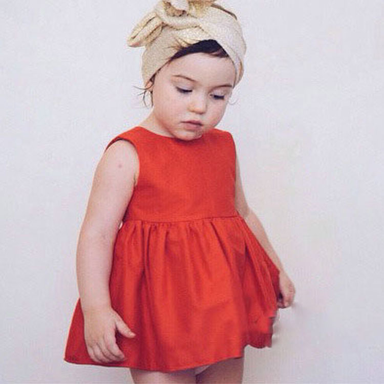 WM01 New Christmas Flower Girl Dresses Hot Red Baby Party Dress for wedding vestidos infantis 0-7 years