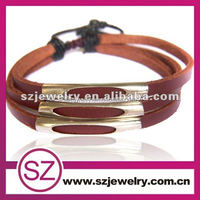 PUA0058 in stock SZ factory price high fashion red leather popper bracelet