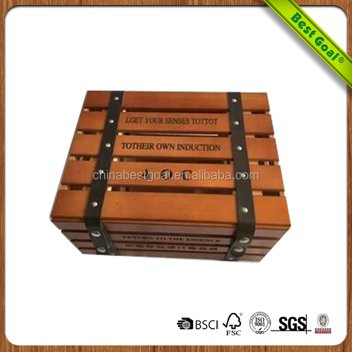 Small Square Shape Craft Woodworking Wooden Box