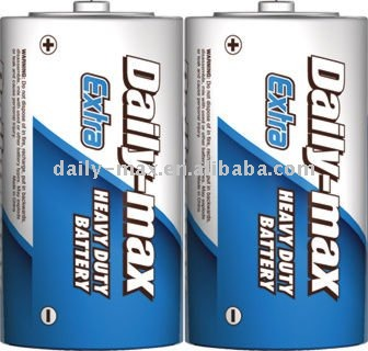 heavy duty zinc carbon R14P SUM-2 C size battery