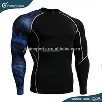 Blank MMA rash guard,Custom sublimation printed rash guard