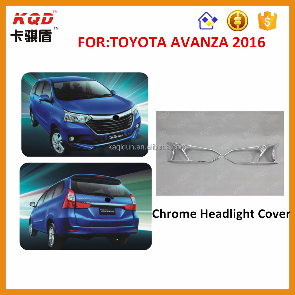 Top selling products 2016 Chrome car headlight cover for toyota avanza accessories toyota avanza toyota avanza accessories