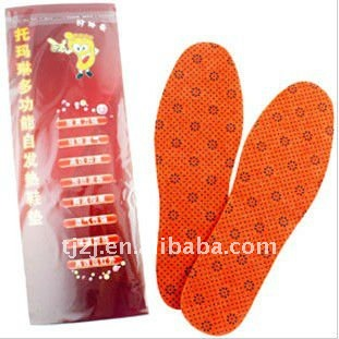 Nano self-heating healthy feet insoles