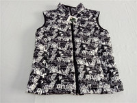 printed white goose down jacket/vest