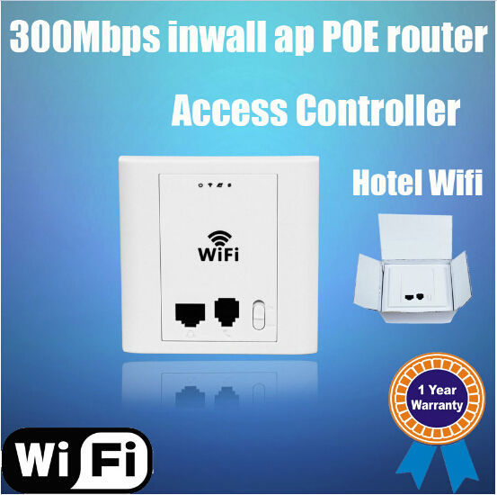 300Mbps PoE WiFi ap, 2.4G wall mount AP, OEM wireless AP with RJ45 and RJ11 port