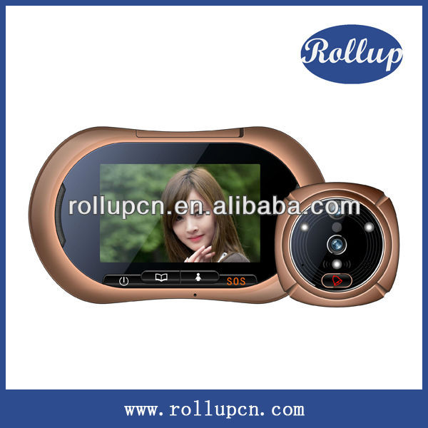Super clear camera doorbell,automatic video recording intercom system,multi touch panel control access intercom