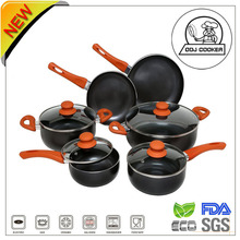 15PCS Ceramic/Marble Coating Pressed Non-stick Aluminum Cookware As Seen onTV