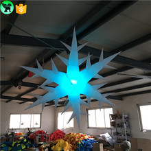 Adversting holiday decoration LED light inflatable christmas snowflake ST24