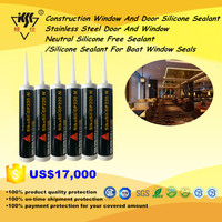 Construction Window And Door/Stainless Steel Door And Window Neutral Silicone Free Sealant/Silicone Sealant For Boat Window Seal
