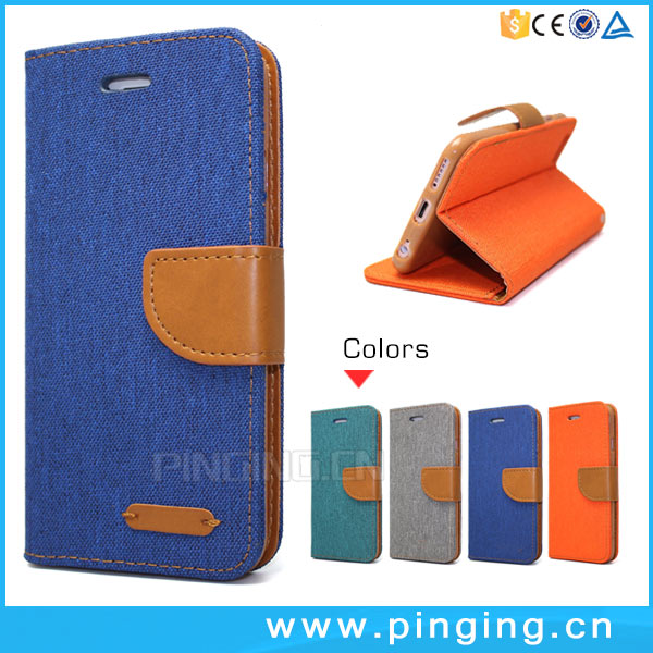 Bicolor Denim Jeans PU Leather Case For Infinix Zero 4 Plus, Wallet Stand Case For Infinix Zero 4 Plus X602